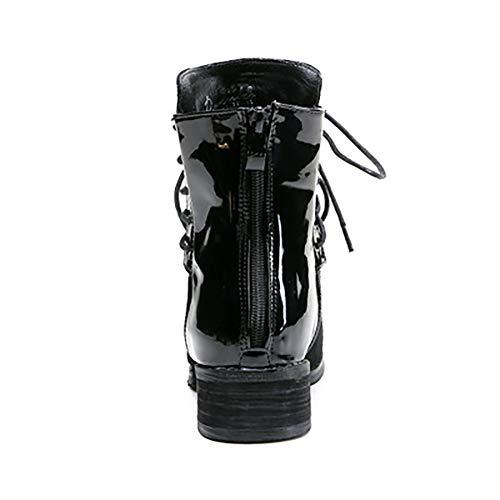 Zipper Chiusura Uk9 Antiscivolo Design Stivali Casual Da Martin Black Pqw8516