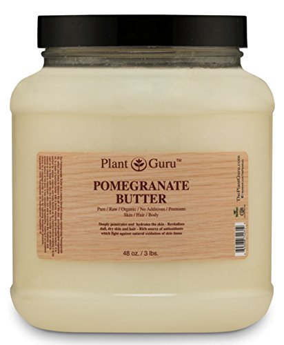 Pomegranate Body Butter 3 lb. 100 Pure Raw Fresh Natural Cold Pressed. Skin Body and Hair Moisturizer, DIY Creams, Balms, Lotions, Soaps.