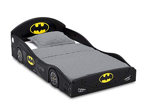 DC Comics Batman Batmobile Car Sleep and Play Toddler Bed with Attached Guardrails by Delta Children 3