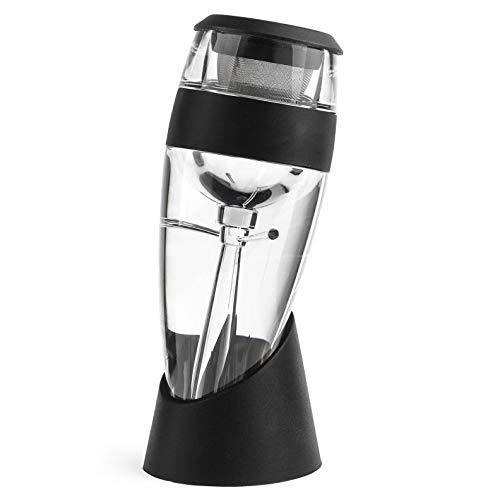 Vituzzi® Decantador 'Deluxe' 2.0 de Vino. Color Negro. Aireador / Vertedor para Vino, para cualquier tipo de Botella o Copa...