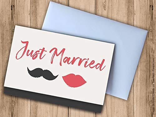Tarjeta sobre para regalar dinero boda Just Married. Sobres para ...