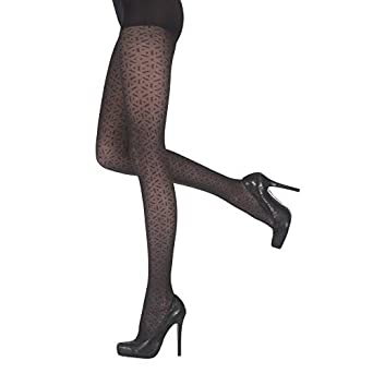 cc85f5d01fde3 Ladies Pretty Polly 40 Denier Smooth Knit Everyday Tights Black Design  Shaper Collants Gaine: Amazon.co.uk: Clothing