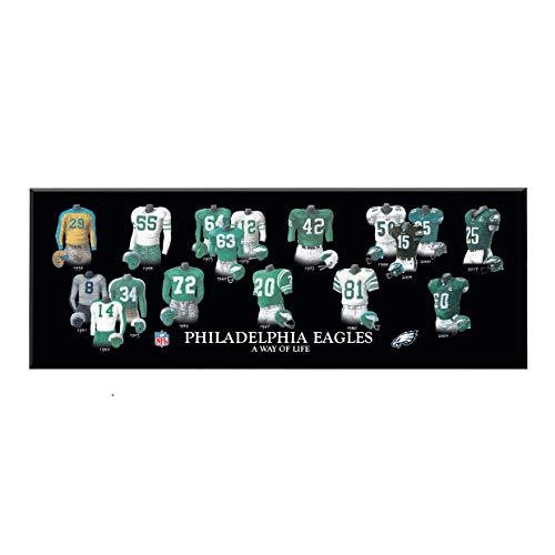Winning Streak NFL Philadelphia Eagles Legacy Uniform Collection Plaque