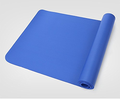 Pro Space Yoga Mat 1/2-Inch Extra Thick Exercise Mat All-Purpose with Carrying Strap (24''x71'') Dark Blue