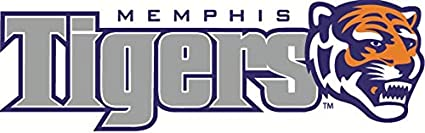 8 Inch UM Tigers Logo Decal University of Memphis Tiger Removable Wall Sticker Art NCAA Home Room Decor 8 by 2 1//2 Inches
