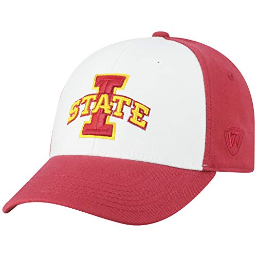 (Top of the World NCAA-Premium Collection Two Tone-One-Fit-Memory Fit-Hat Cap- Iowa State Cyclones)