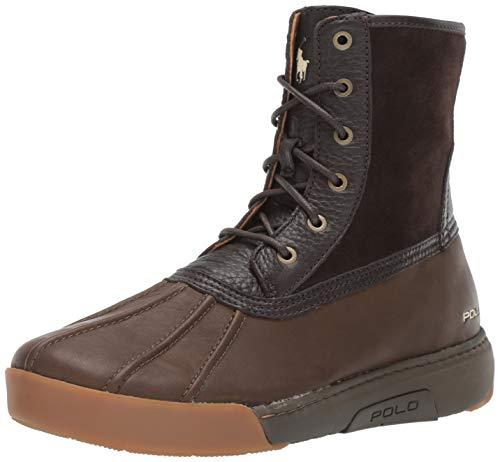(Polo Ralph Lauren Men's Declan Fashion Boot, Dark Brown/Olive, 8.5 D US)