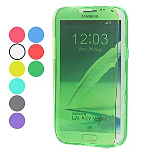 Transparent Protective Soft TPU Case for Samsung Galaxy Note 2 N7100 (Assorted Colors) --- COLOR:White