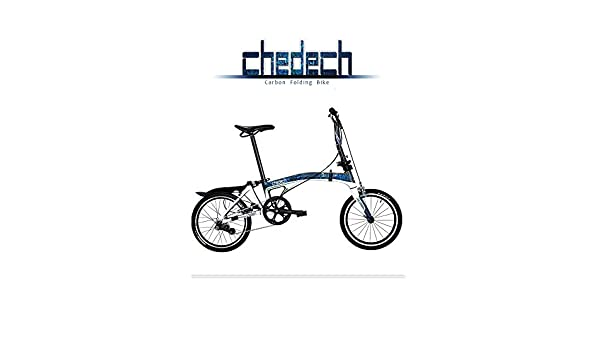 Get2Get Chedech - Bicicleta Plegable (Carbono), Color Azul: Amazon ...