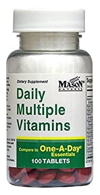 Daily Multiple Vitamins Compare To One A Day Essentials Multivitamin Multimineral Supplement 100 Tablets per Bottle