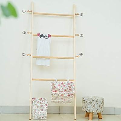 Love-yimaojia Perchero de Madera Maciza Escalera de Perchero Piso de la Sala de Estar Dormitorio Almacenamiento Perchero Percha (Color : B): Amazon.es: Hogar