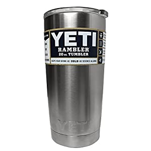 YETI Rambler 20 oz Stainless Steel Vacuum Insulated Tumbler with Lid (Stainless Steel)