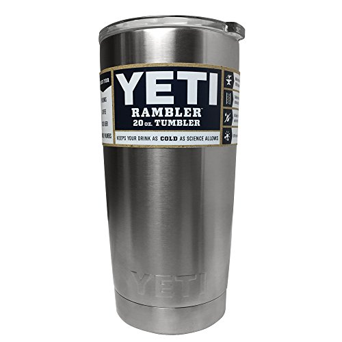 YETI Rambler 20 oz Stainless Steel Vacuum Insulated Tumbler with Lid (Stainless Steel) (Beverage Tumbler Mug)