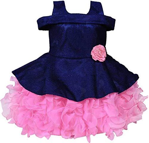 Girls Midi/Knee Length Festive/Wedding Dress (6-12 Month)