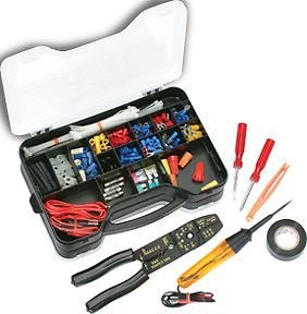 Muktat_ ATD 285pc Automotive Electrical Repair Kit,Tools,Terminals,Fuses,Test light #285