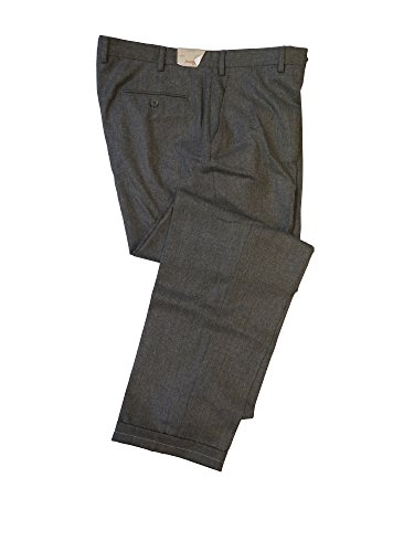 Brioni Men's Gray Moena Wool Dress Pants 42 Flat Front for sale  Delivered anywhere in USA