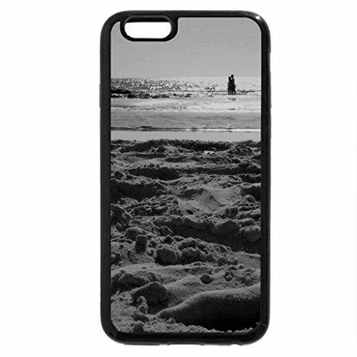 iPhone 6S Plus Case, iPhone 6 Plus Case (Black & White) - tattooed feet on a beach
