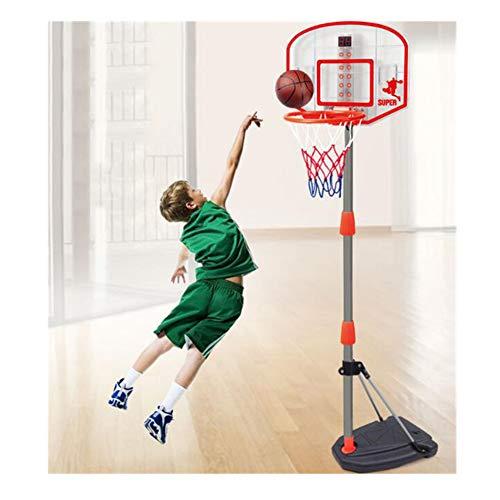 WDXIN Canasta de Baloncesto para niños Soporte de Baloncesto portátil para Interiores y Exteriores Altura Ajustable de...