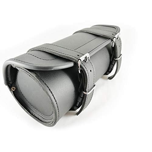 Genuine Leather Motorcycle Roll Tool Bag