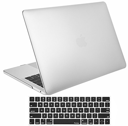 ProCase MacBook Pro 15 Case 2018 2017 2016 Release A1990/A1707, Hard Case Shell Cover and Keyboard Cover for Apple MacBook Pro 15