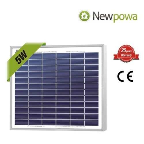 NewPowa High efficiency 5W 12V Poly Solar Panel Module RV Marine Boat Off (Solar Module Efficiency)