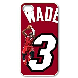 J-LV-F Customized Print Dwyane Wade Pattern Back Case for iPhone 4/4S