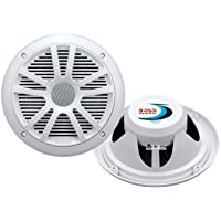 Boss Audio MR6W - 6.5 Dual Cone 180-watt Marine Coaxial Speakers, PAIR