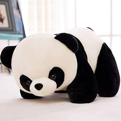 aggaleery stuffed soft plush toy kids birthday black panda 26 cm  26 cm  Black;White