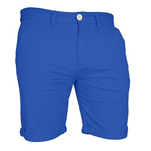 Mens Chino Shorts Casual Cargo Combat 100% Cotton Half Pant (34, Royal Blue)