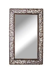 mirror 60 x 90. premier housewares rattan frame wall mirror, 60 x 90 cm mirror