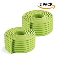 HROUEN 2 Pack Baby Proofing Edge & Corner Guards 6.5ft Multifunctional Child Safety Furniture Wide Bumper Table Sharp Edges Protector, Green