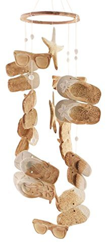 Clay Motif - Clay Motif Coastal Beach Flip Flops Sunglasses Starfish Wind Chimes
