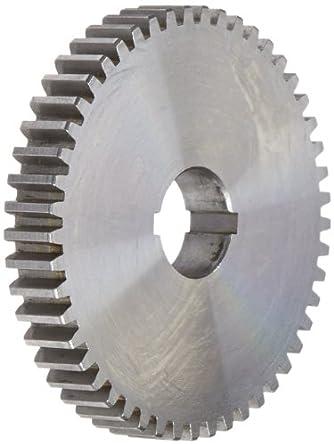"Boston Gear GA49 Plain Change Gear, 14.5 Degree Pressure Angle, 20 Pitch, 0.625"" Bore, 49 Teeth, Steel"