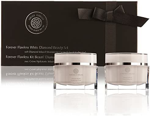 Forever Flawless Facial Peeling Gel and Moisturizer Cream - Two-Step Face Treatment For Men and Women with Dry, Sensitive, and Oily Skin FF18
