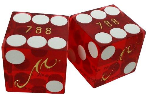 Pair 2 Real Used Dice Mandalay Bay Hotel Casino LAS Vegas Nevada Matching Numbers - Hotel Casino Dice