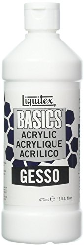 Liquitex BASICS Gesso Surface Prep Medium, 16-oz -