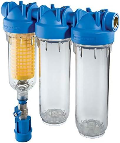 Hydra Trio RLH 3/4 Brunnen filtro de agua gris Agua Casa de filtrado de agua: Amazon.es: Bricolaje y herramientas