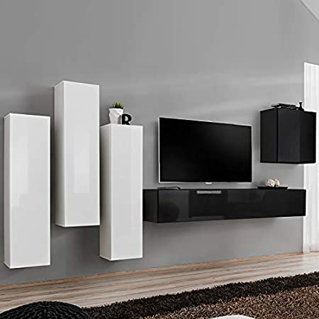 NOUVOMEUBLE Forenza - Mueble para televisor, diseño Blanco y Negro ...