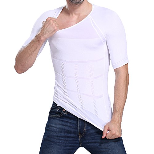 Image Men's Body Shaper for Men Slimming Shirt Tummy Waist lose Weight Compression Shirt (XL)