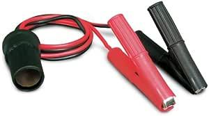 RoadPro RPPSAPS 12V Battery Clip-On and Cigarette Lighter Adapter