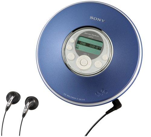 Sony D-NE319 MP3/ATRAC CD Walkman (Blue) by Sony