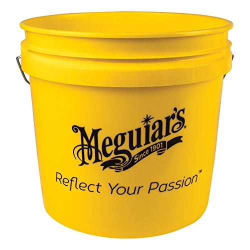 Meguiar?s Yellow Bucket ? Make Car Washing Easy With Bright Bucket for Water and Suds ? 3.5 gal