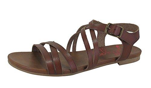 Jellypop Kathryn Womens Flat Sandals Cognac 7.5