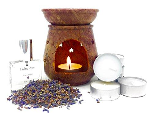 Jali Soapstone Moroccan Oil Diffuser Warmer Tea Light Holder Burner Aromatherapy