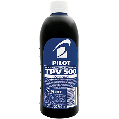 Tinta Plastico E Vinil Tpv Azul 500ml Pilot, Multicor