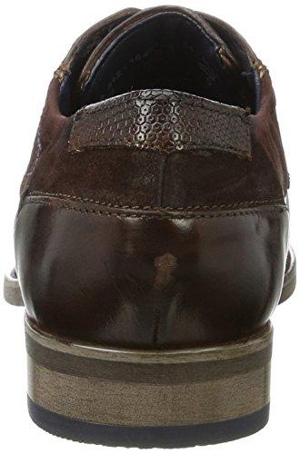 Bugatti 312164041134, Zapatos de Cordones Derby para Hombre Marrón (Dark Brown / Dark Brown)
