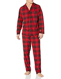 Men's Cozy Fleece Plaid Pajama Set