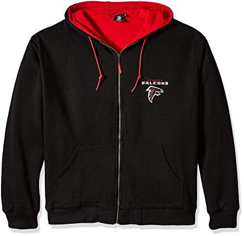 Poly Thermal Hoody Sweatshirt - Dunbrooke NFL Craftsman Full Zip Thermal Hoodie, Atlanta Falcons - X-Large