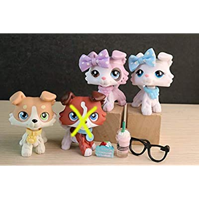 Judylovelps Custom Collie 3 Packs, lps Ice Cream Collie lps Vanilla Collie lps Coffee Collie with lps Accessories Rare Figures: Home & Kitchen