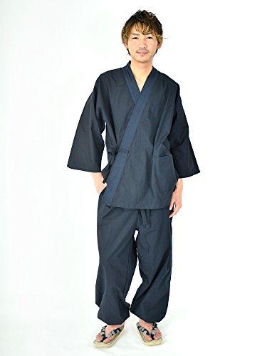 Edoten Men's Japan Kimono Ninjya Cotton100% Samue Nevy XXL by Edoten (Image #3)